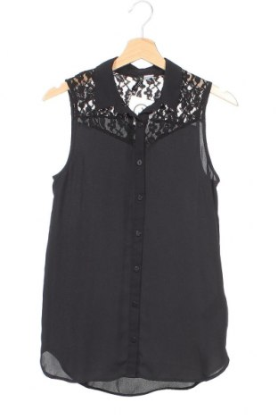 Γυναικείο πουκάμισο H&M Divided, Μέγεθος XS, Χρώμα Μαύρο, Πολυεστέρας, Τιμή 3,64€