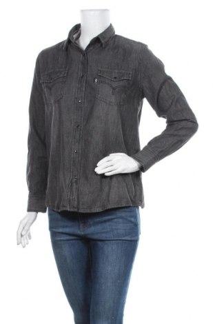 Дамска риза Lois, Размер M, Цвят Сив, Памук, Цена 24,84лв.