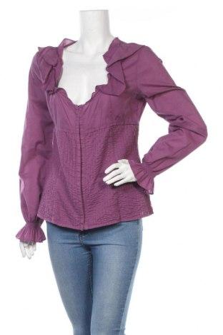 Дамска риза Max&Co., Размер L, Цвят Лилав, Памук, Цена 27,10лв.
