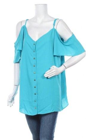 Дамска риза Simply Be, Размер XXL, Цвят Зелен, Полиестер, Цена 36,75лв.