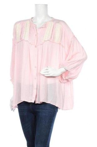 Дамска риза Venca, Размер L, Цвят Розов, Вискоза, Цена 21,84лв.