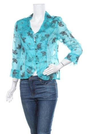 Дамска риза Vera Mont, Размер M, Цвят Син, Коприна, Цена 42,53лв.
