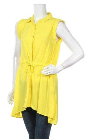 Γυναικείο πουκάμισο Vert De Rage, Μέγεθος L, Χρώμα Κίτρινο, Βισκόζη, Τιμή 10,13€
