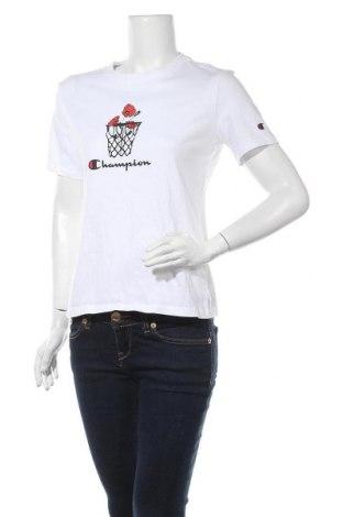 Γυναικείο t-shirt Champion, Μέγεθος L, Χρώμα Λευκό, Βαμβάκι, Τιμή 17,78€