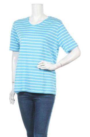 Дамска тениска Designer S, Размер L, Цвят Син, Памук, Цена 12,50лв.