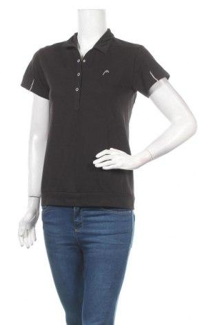 Дамска тениска Head, Размер M, Цвят Черен, 5% полиестер, 35% памук, Цена 5,71лв.