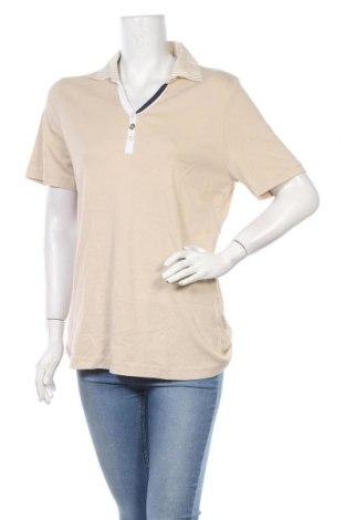 Дамска тениска Kingfield, Размер L, Цвят Бежов, Памук, Цена 14,28лв.