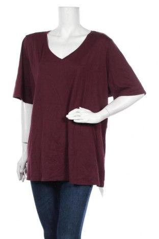 Дамска тениска Lane Bryant, Размер XXL, Цвят Червен, 60% памук, 40% полиестер, Цена 15,96лв.