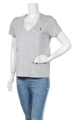 Γυναικείο t-shirt Polo By Ralph Lauren, Μέγεθος L, Χρώμα Γκρί, Βαμβάκι, Τιμή 34,41€