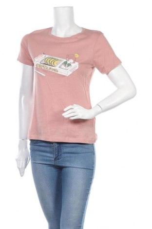 Γυναικείο t-shirt Pull&Bear, Μέγεθος S, Χρώμα Ρόζ , Βαμβάκι, Τιμή 9,09€