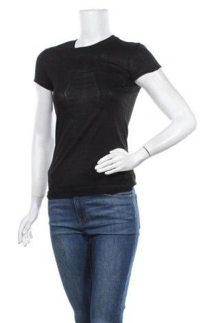 Дамска тениска Zara, Размер S, Цвят Черен, Вискоза, Цена 6,93лв.