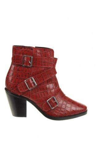 Дамски боти Michelle Keegan, Размер 39, Цвят Червен, Естествена кожа, Цена 55,86лв.