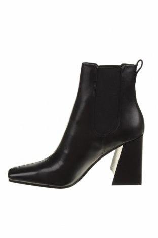 Дамски боти Topshop, Размер 39, Цвят Черен, Естествена кожа, Цена 159,00лв.