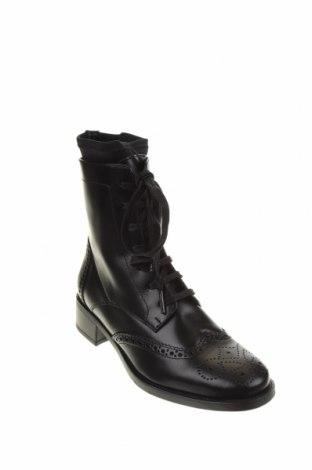 Дамски боти Unisa, Размер 37, Цвят Черен, Естествена кожа, Цена 149,00лв.