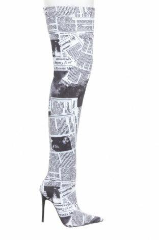 Дамски ботуши Bebo, Размер 38, Цвят Бял, Текстил, Цена 99,00лв.