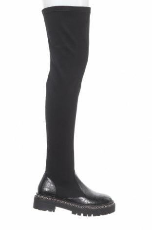 Дамски ботуши Raid, Размер 38, Цвят Черен, Текстил, еко кожа, Цена 96,00лв.