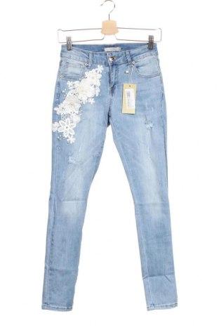 Dámské džíny  Anany, Velikost XS, Barva Modrá, 73% bavlna, 23% polyester, 3% viskóza, 1% elastan, Cena  500,00Kč