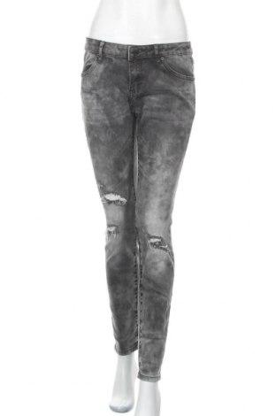Дамски дънки Ann Christine, Размер L, Цвят Сив, 99% памук, 1% еластан, Цена 24,36лв.