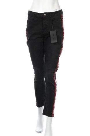 Дамски дънки Kiomi, Размер M, Цвят Черен, 98% памук, 2% еластан, Цена 33,12лв.
