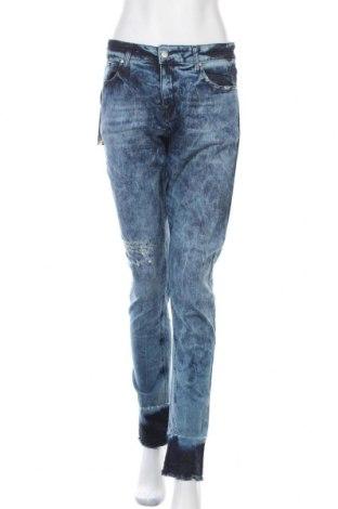 Дамски дънки Met, Размер M, Цвят Син, 98% памук, 2% еластан, Цена 34,65лв.