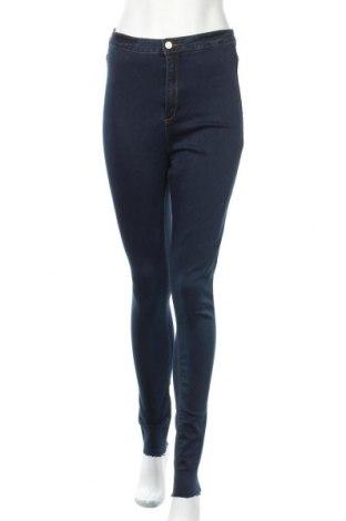 Дамски дънки Missguided, Размер M, Цвят Син, 66% памук, 32% полиестер, 2% еластан, Цена 26,96лв.