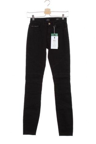 Дамски дънки ONLY, Размер XS, Цвят Черен, 70% памук, 29% полиестер, 1% еластан, Цена 28,22лв.
