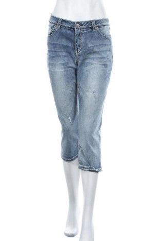 Дамски дънки Rick Cardona, Размер L, Цвят Син, 68% памук, 19% полиестер, 11% вискоза, 2% еластан, Цена 27,30лв.