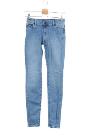 Дамски дънки Teddy Smith, Размер XS, Цвят Син, 77% памук, 14% лиосел, 7% полиестер, 2% еластан, Цена 15,75лв.