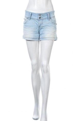 Дамски къс панталон Lulu, Размер L, Цвят Син, 66% памук, 33% полиестер, 1% еластан, Цена 15,17лв.