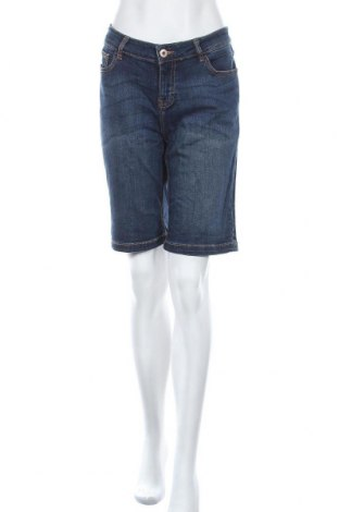 Дамски къс панталон Takko Fashion, Размер XL, Цвят Син, 98% памук, 2% еластан, Цена 15,96лв.