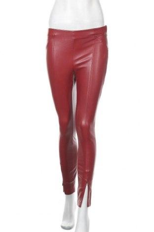 Γυναικείο παντελόνι δερμάτινο Zara, Μέγεθος S, Χρώμα Κόκκινο, Δερματίνη, Τιμή 17,86€