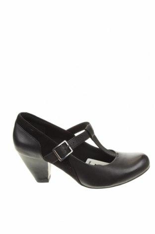 Дамски обувки Clarks, Размер 37, Цвят Черен, Естествена кожа, Цена 37,24лв.