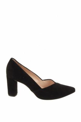 Дамски обувки Hogl, Размер 38, Цвят Черен, Естествен велур, Цена 179,25лв.