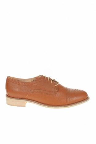 Дамски обувки Jonak, Размер 39, Цвят Кафяв, Естествена кожа, Цена 111,75лв.