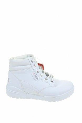 Γυναικεία παπούτσια Kappa, Μέγεθος 38, Χρώμα Λευκό, Δερματίνη, Τιμή 33,25€