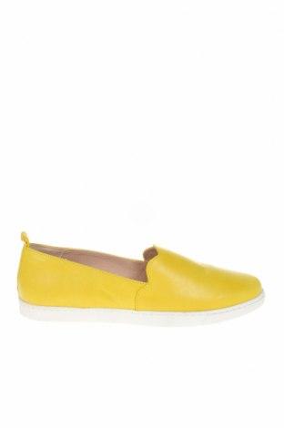 Γυναικεία παπούτσια Kiomi, Μέγεθος 41, Χρώμα Κίτρινο, Γνήσιο δέρμα, Τιμή 42,14€