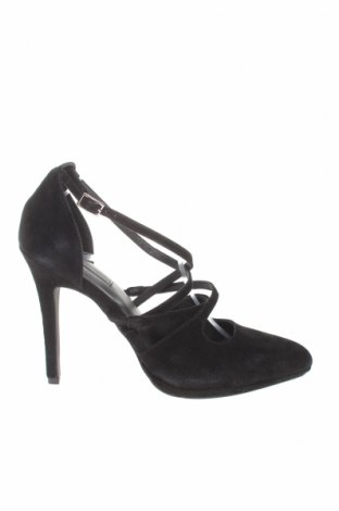 Дамски обувки Kiomi, Размер 40, Цвят Черен, Естествен велур, Цена 27,04лв.