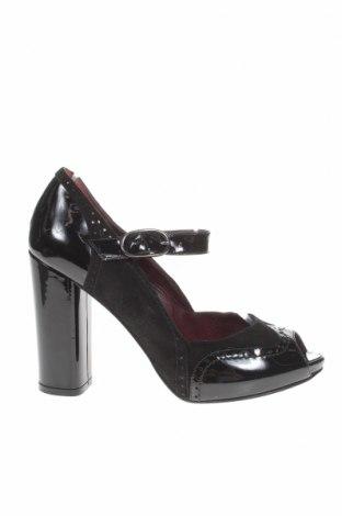 Γυναικεία παπούτσια Max Mara, Μέγεθος 37, Χρώμα Μαύρο, Γνήσιο δέρμα, φυσικό σουέτ, Τιμή 53,26€