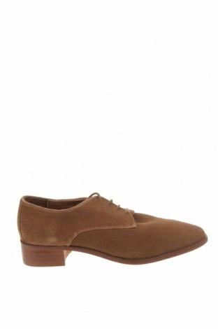 Дамски обувки Mint & Berry, Размер 40, Цвят Кафяв, Естествен велур, Цена 24,73лв.