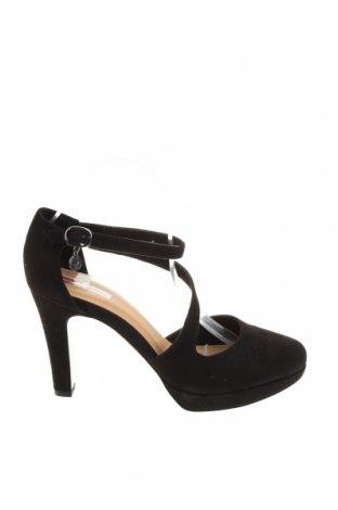 Γυναικεία παπούτσια S.Oliver, Μέγεθος 40, Χρώμα Μαύρο, Κλωστοϋφαντουργικά προϊόντα, Τιμή 12,85€