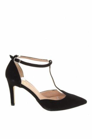 Γυναικεία παπούτσια Si, Μέγεθος 38, Χρώμα Μαύρο, Φυσικό σουέτ, Τιμή 29,78€