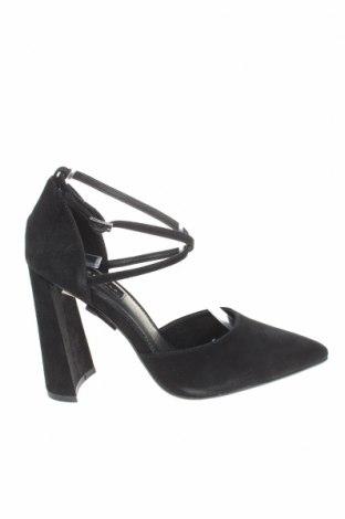 Дамски обувки Topshop, Размер 38, Цвят Черен, Естествен велур, Цена 33,00лв.