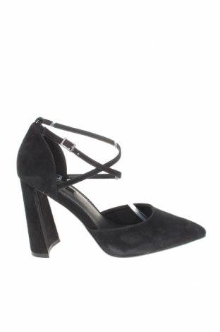 Дамски обувки Topshop, Размер 40, Цвят Черен, Естествен велур, Цена 33,00лв.