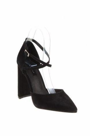 Дамски обувки Topshop, Размер 36, Цвят Черен, Естествен велур, Цена 33,00лв.
