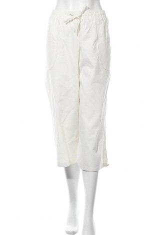 Дамски панталон, Размер XL, Цвят Екрю, 55% лен, 45% памук, Цена 24,53лв.