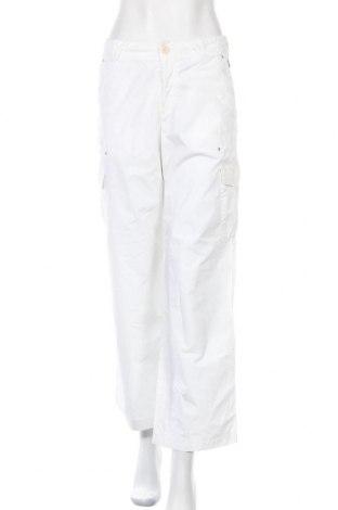 Дамски панталон Boss Orange, Размер M, Цвят Бял, Памук, Цена 34,04лв.
