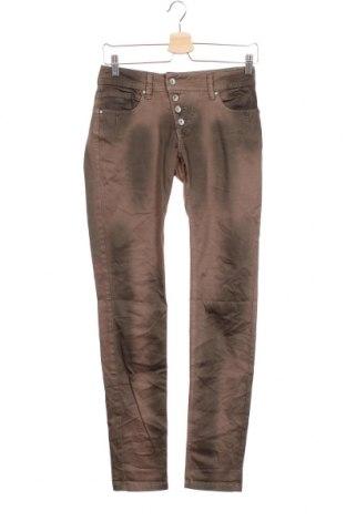 Дамски панталон Buena Vista, Размер XS, Цвят Кафяв, 98% памук, 2% еластан, Цена 24,36лв.