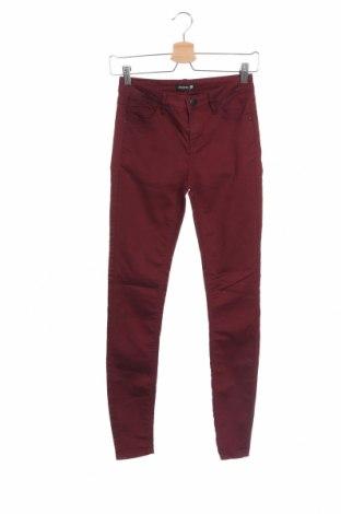 Дамски панталон Chicoree, Размер XS, Цвят Червен, 68% памук, 29% полиестер, 3% еластан, Цена 10,29лв.