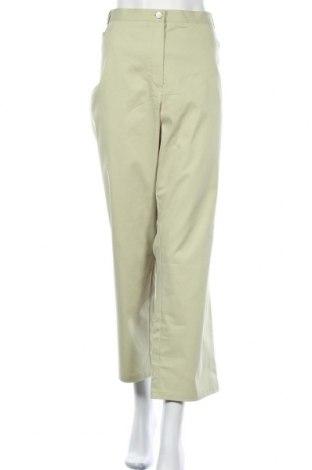 Дамски панталон Cosma, Размер 3XL, Цвят Зелен, 97% памук, 3% еластан, Цена 31,24лв.