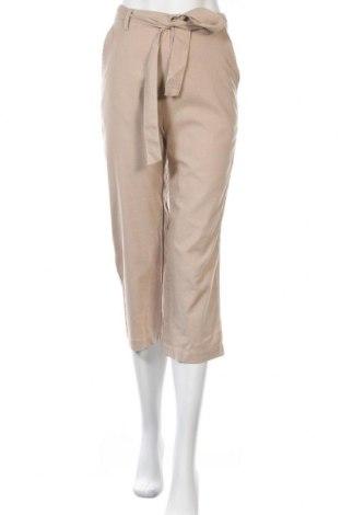 Pantaloni de femei Even&Odd, Mărime S, Culoare Bej, 33% in, 32% viscoză, 25% poliester, 10% bumbac, Preț 58,02 Lei